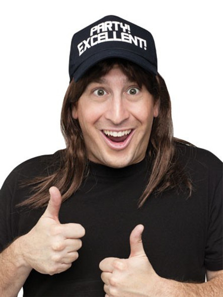 Waynes World Excellent Wayne Hat Wig Adult Costume Accessory Kit SNL New