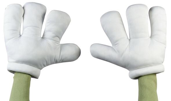 Jumbo White Children Cartoon Hands Gloves Boys Girls Halloween Costume Accessory