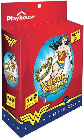 DC Comics Wonder Woman 24 Pieces Mini Jigsaw Puzzle Paper House Puzzles Ages 3+