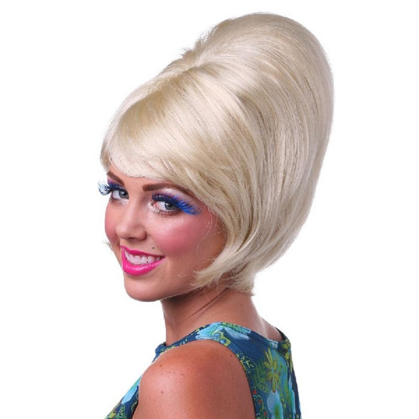 Blonde Beehive Tall Wig Quality 50's 60's Rock and Roll Quality Costume Accessory