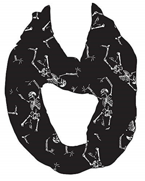 Morris Costumes Girls Out Loud Skeleton Infinity Scarf Halloween Accessory