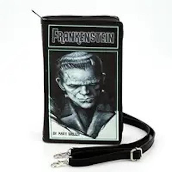 Frankenstein Book Clutch Bag Purse Wristlet Vintage Look Vinyl