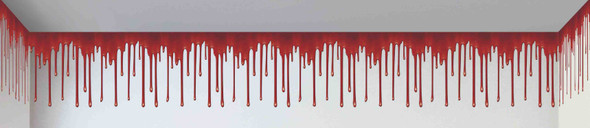 100ft. Dripping Blood Wall Border Decoration Decor Indoor Outdoor Haunted House