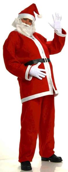 Simply Santa Claus Adult Men Costume Beard Belt Hat Red Economy Suit Jacket Std