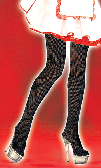 Black Fishnet Tights Seamless Pantyhose Adult Womens Halloween Costume Accessory