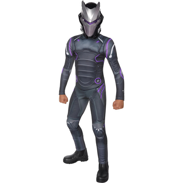 Fortnite Purple Omega Youth Skin Child Costume Boys Jumpsuit Gamer Outfit LARGE