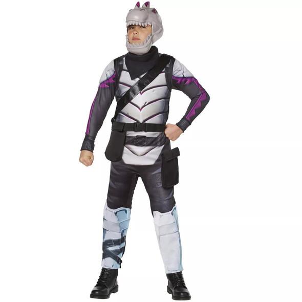 Fortnite Dark Rex Youth Skin Child Costume Boys Jumpsuit Gamer Outfit MEDIUM