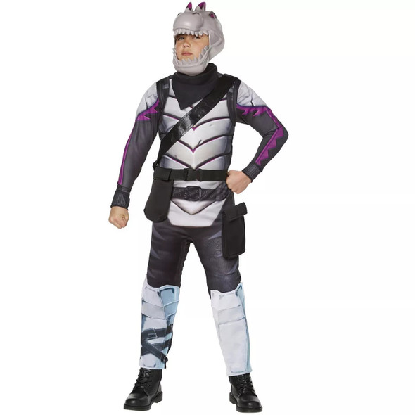 Fortnite Dark Rex Youth Skin Child Costume Boys Jumpsuit Gamer Outfit LARGE