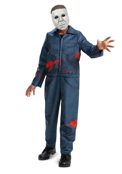 Michael Myers Halloween II Kids Jumpsuit Mask Licensed Child Costume Large 10-12