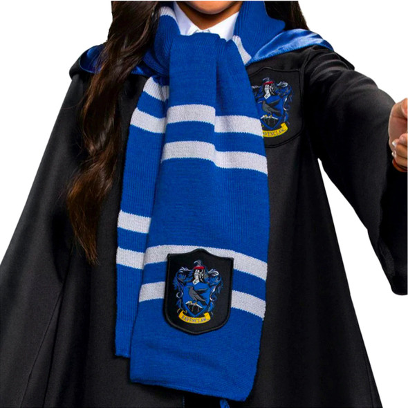 """Harry Potter Movie Ravenclaw 60"""" Knit Scarf Wizarding World Costume Accessory"""