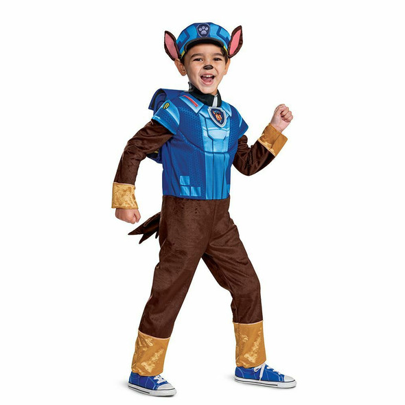Paw Patrol The Movie Mighty Pups Chase Toddler Child Halloween Costume 3T-4T