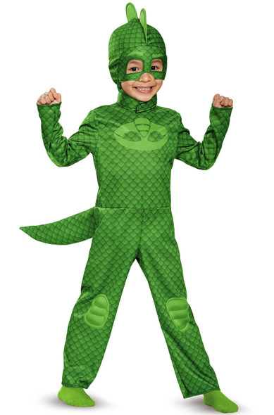 Licensed PJ Masks Gekko Classic Toddler Child Costume 3T-4T Green Jumpsuit