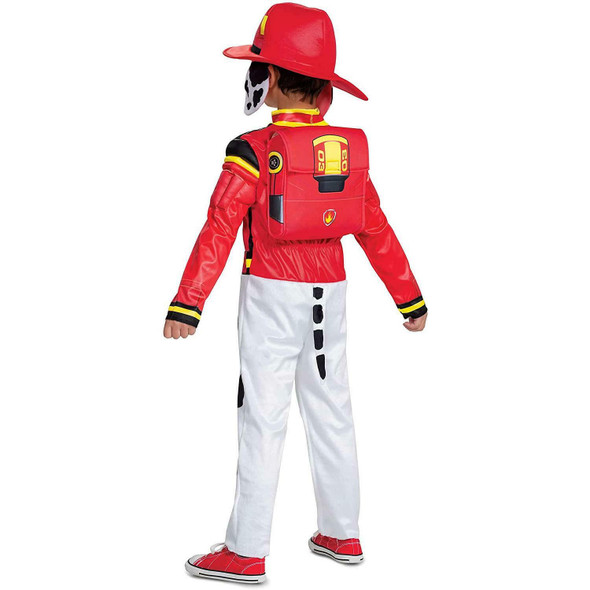 Paw Patrol The Movie Mighty Pups Marshall Toddler Child Halloween Costume 3T-4T