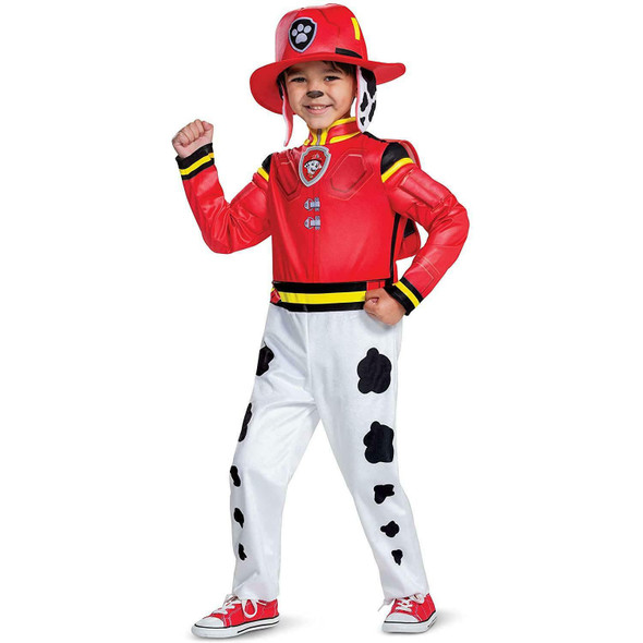 Paw Patrol The Movie Mighty Pups Marshall Toddler Child Halloween Costume 4-6
