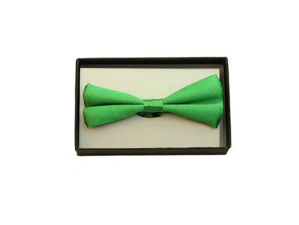 Green Satin Bow Tie Adult Adjustable Tuxedo Costume Accessory