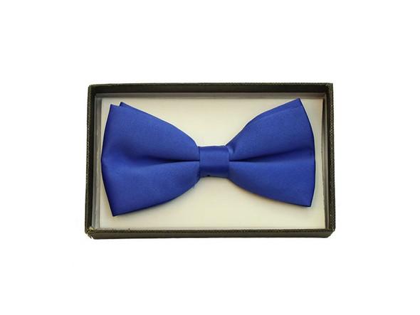Royal Blue Satin Bow Tie Adult Adjustable Tuxedo Costume Accessory