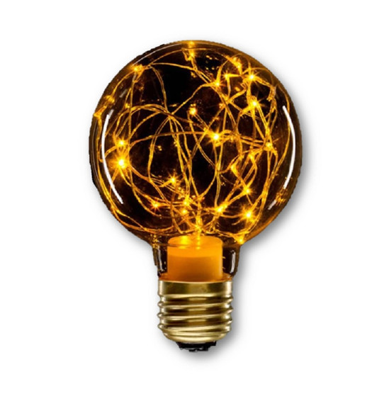 Holiday LED Fairy Light Bulb Halloween Orange Home Decor