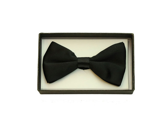 Black Satin Bow Tie Adult Adjustable Tuxedo Costume Accessory