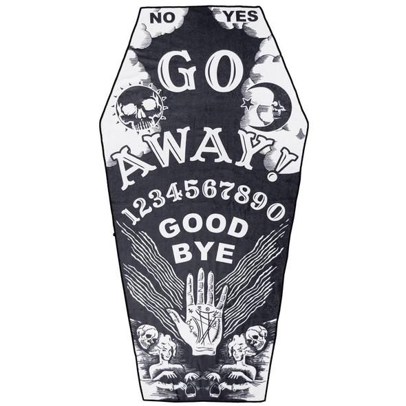 Go Away Ouija Board Coffin Beach Towel Mystical Gothic Style
