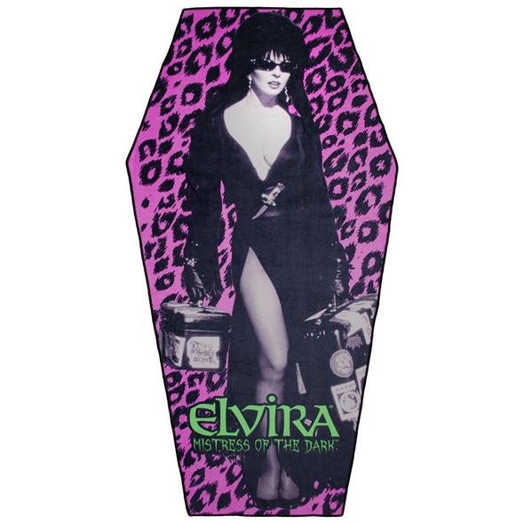 Elvira Leo Coffin Beach Towel Mystical Gothic Vampire Style