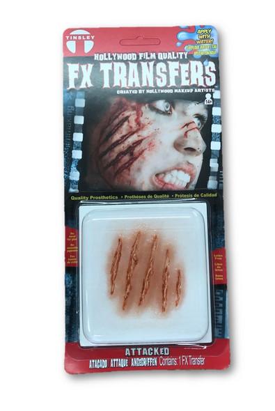 Tinsley Transfers 3D Animal Attacked Trauma FX Prosthetics Halloween Makeup
