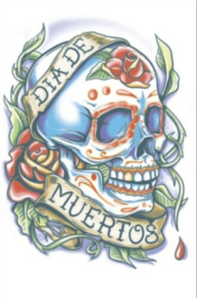 Tinsley Transfers Day Of The Dead La Rosa Temporary Tattoo Halloween FX Makeup