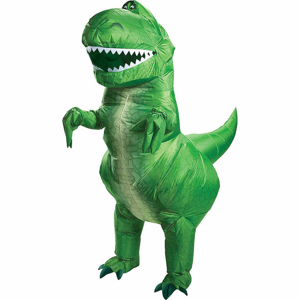 Disney Toy Story 4 Rex Green T-Rex Dinosaur Inflatable Adult Costume Licensed
