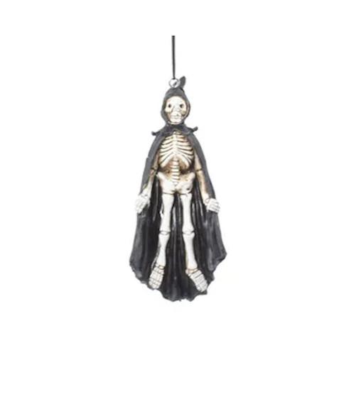 Skeleton with Black Cape Halloween Ornaments Decor Set of 3