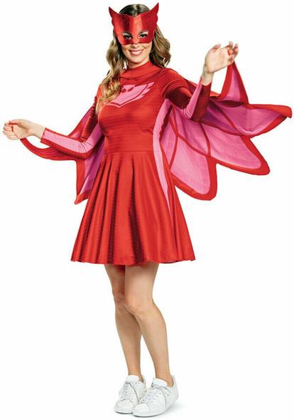PJ Masks Owlette Costume Women's Red Fancy Dress Licensed Classic MD 8-10