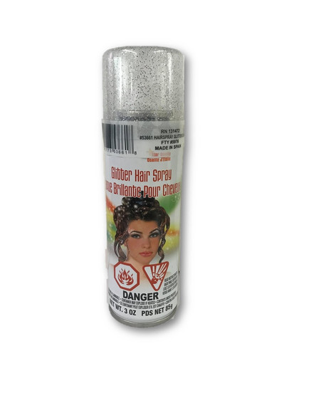 Bright Color Hair Spray Silver Glitter Temporary Hair Color Costume Accessory Make-Up