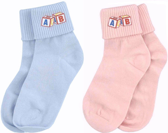Adult Big Baby Ankle Socks Men Women Pink Blue Funny Costume Accessory Showers