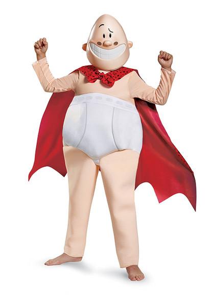 Dreamworks Captain Underpants Deluxe Children's Costume Cartoon Movie SM MD LG