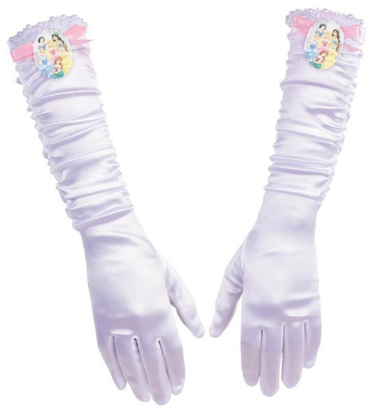 Disguise Disney Princesses Long White Gloves Girls Child Costume Accessory 4+