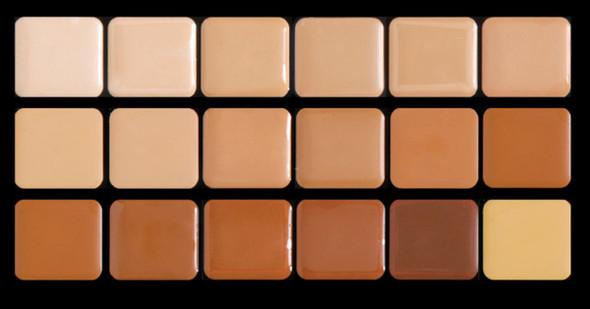 Graftobian High Definition HD Cream Foundation Super Palette Warm 18 Colors