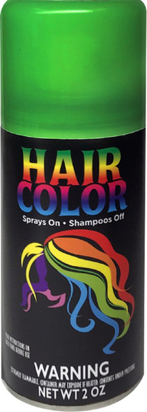 Hot Hair Bright Green Spray Temporary Hair Color Costume Accessory Make-Up