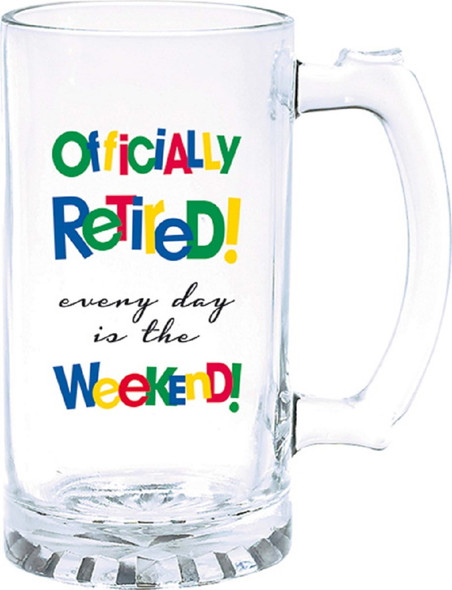 Amscan Party Supply 15OZ. Officially Retired Tankard Glass Retirement Gift