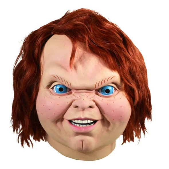Licensed Child's Play 2 Evil Chucky Doll Adult Latex Mask Halloween Horror Movie