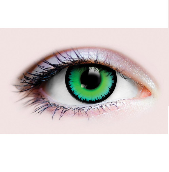 Primal Costume Contact Lenses Costume Werewolf Green Cosplay Make-up Anime