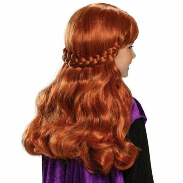 Disney Frozen 2 Anna Child Wig Princess Braid Girls Halloween Costume Accessory