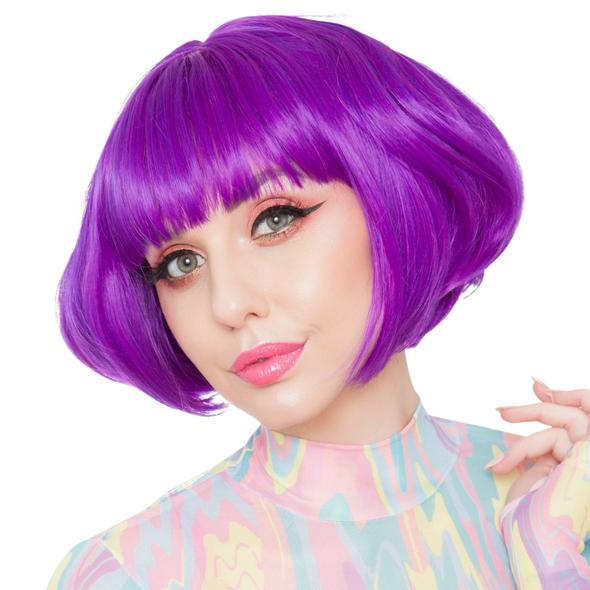 Gothic Lolita Wigs Lolibob Bob Purple Mix Anime Cosplay Character Wig