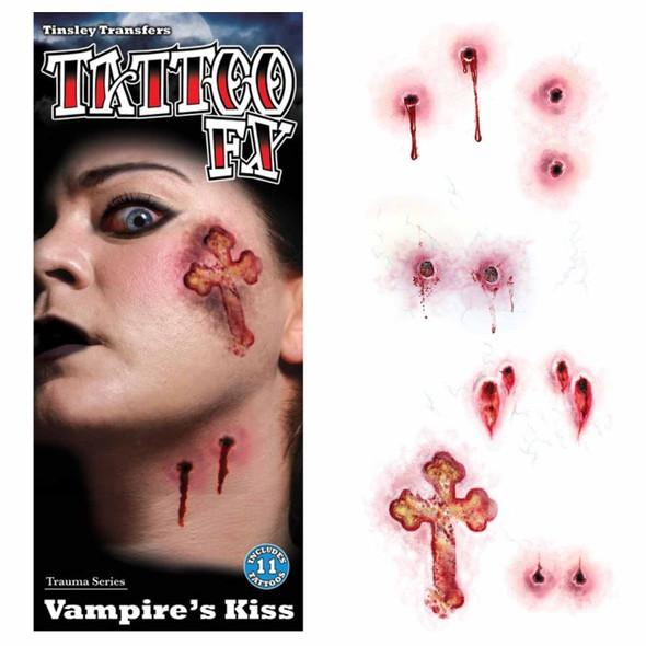 Tinsley Transfers Trauma Temporary Tattoos Vampire's Kiss Halloween FX Makeup