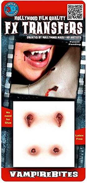 Tinsley Transfers 3D Vampire Bite Marks FX Transfer Prosthetics Halloween Makeup