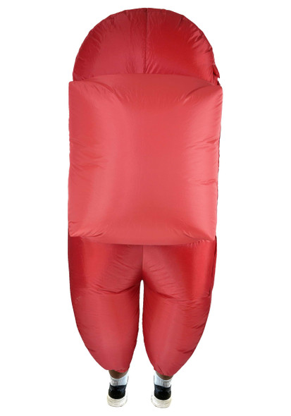 SUS Crew Among Us Red Imposter Crew Mate Killer Inflatable Child Costume Unisex