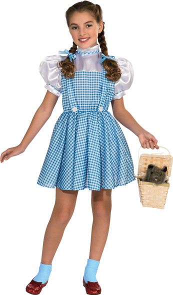 The Wizard of Oz Dorothy Girls Halloween Costume Blue Plaid Fancy Dress SM-MD-LG