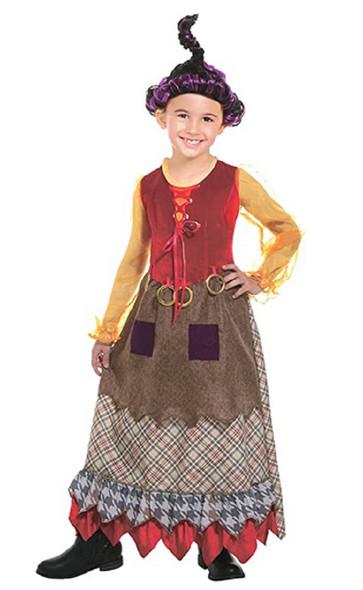 Salem Witch Goofy Hocus Pocus Inspired Mary Child Halloween Costume MD 8-10
