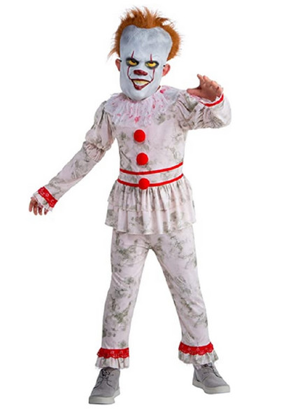 Evil Dancing Clown Pennywise IT Inspired Child scary Halloween Costume MD 8-10