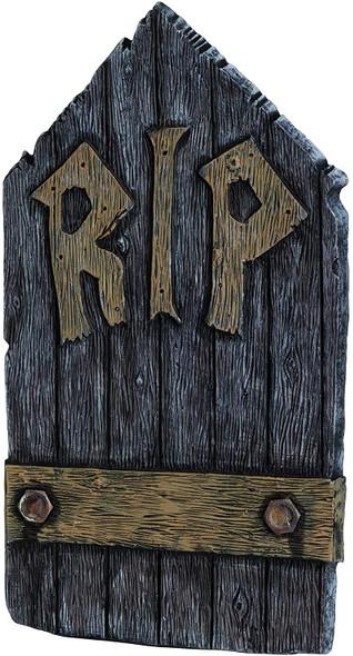 "Fun World RIP Rest In Peace R.I.P Wood Grain Halloween Decor 21"" Tombstone"