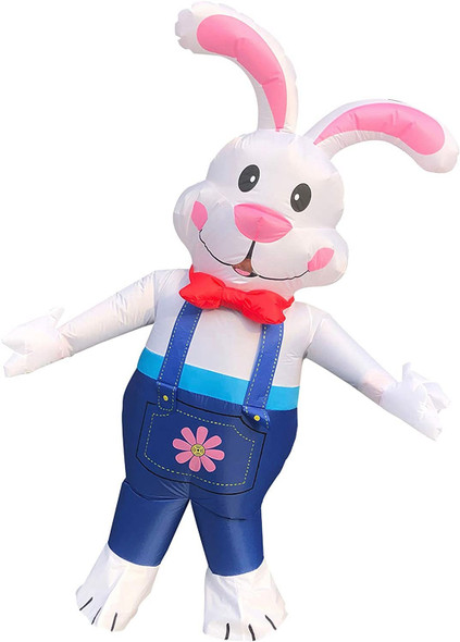 Inflatable Easter Spring Rabbit Costume Friendly Blow-Up Bunny Adult Large New