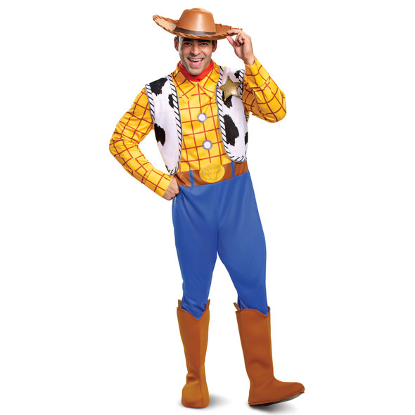 Disney Toy Story 4 Deluxe Woody Adult Costume Licensed Cowboy Sheriff LG-XL