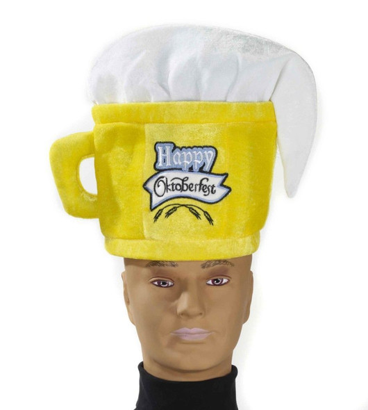 Happy Oktoberfest Beer Mug Hat Glass Adult Halloween Costume Accessory Festival